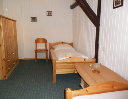 Ferienwohnung Weißdorn - Eines der 3 Schlafzimmer